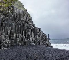 Basalt Columns on Black Sand Beach