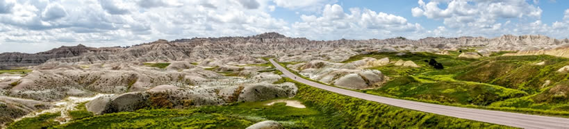 Panoramic Road in Badlands
