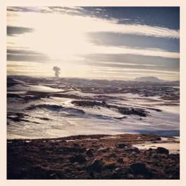 Otherworldly scene near Myvatn