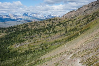 Granite Chalet and Hikers in the Distance
