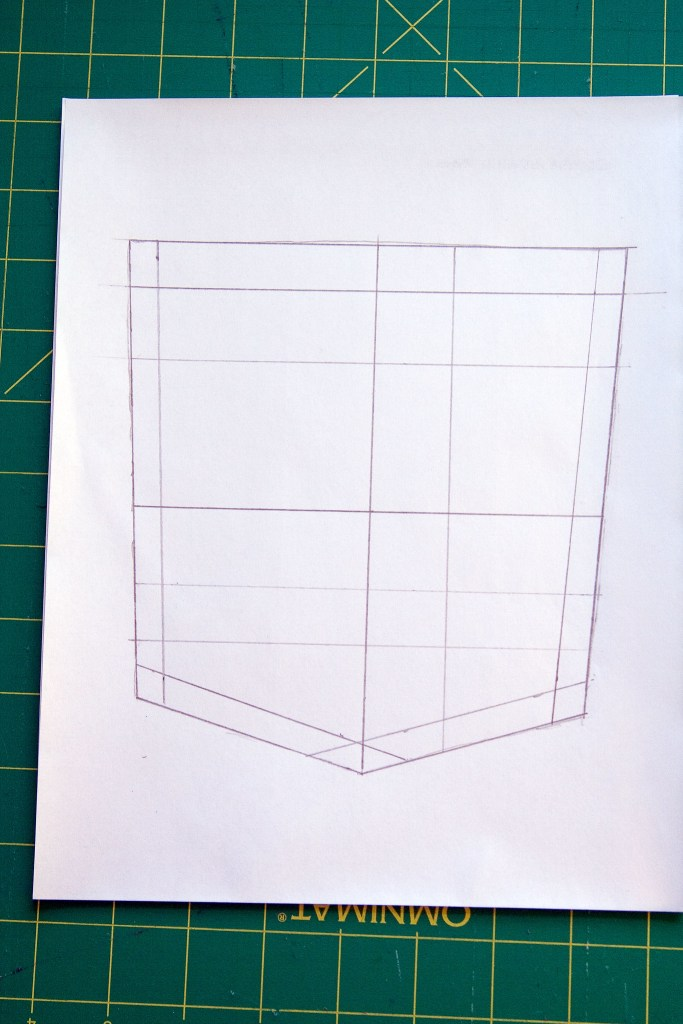 Template with grid