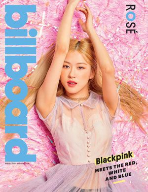 foto rose blackpink model cover majalah billboard