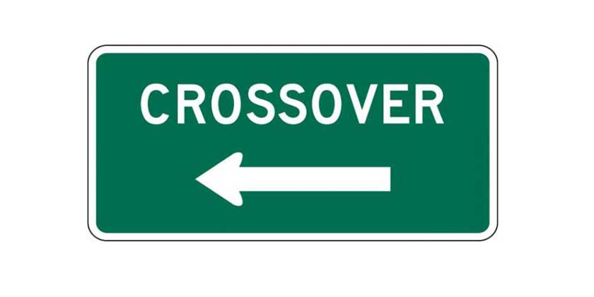 D13-1 Crossover Sign