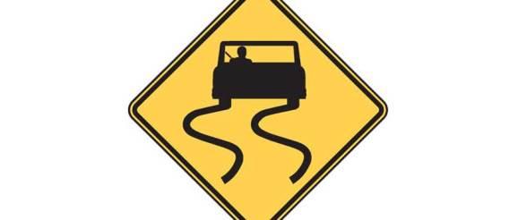 W8-5 Slippery When Wet Sign