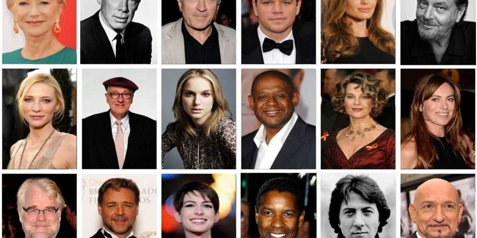 Oscar Winners - Movie Star Collage