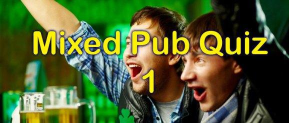 Mixed Pub Quiz - 1 - 20 questions at Quiz-a-go-go