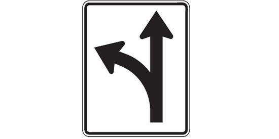 Quizagogo - US Road Signs - Regulatory Lane Use Sign