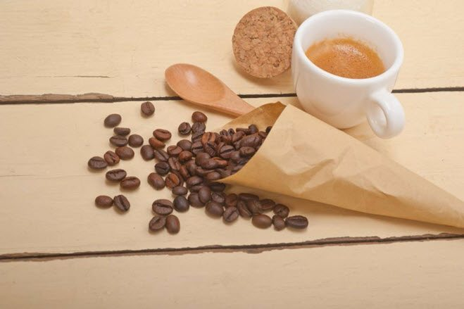 Quiz med spørsmål om kaffe