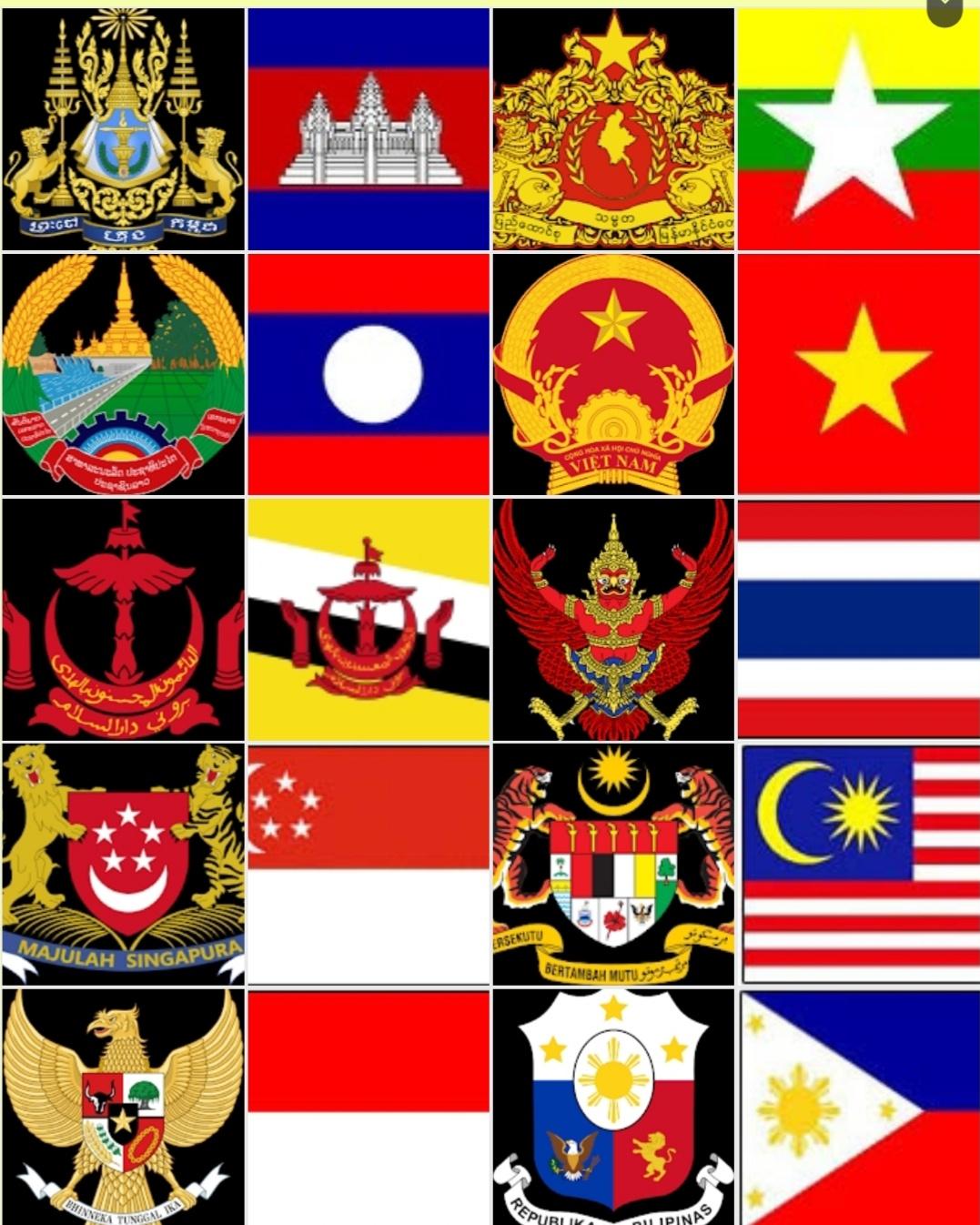 Bendera Dan Lambang Negara Asean : bendera, lambang, negara, asean, Bendera, Lambang, Negara, ASEAN, Quizizz