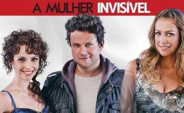 capa do filme a mulher invisível com os protagonistas da comédia