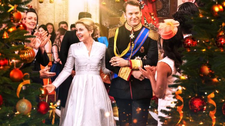 principe e princesa do filme O príncipe do natal de 2017