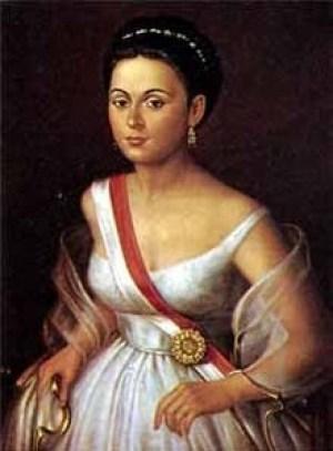 foto da famosa Manuela Sáenz
