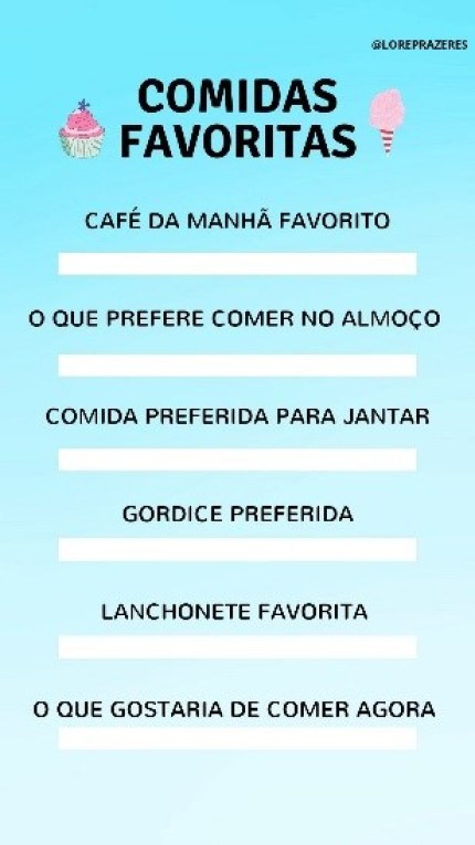 Comidas favoritas template para whatsapp