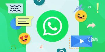 imagem com os símbolos do whatsapp