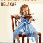 menina criança tocando violino