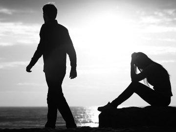 imagem representando duas pessoas se afastando