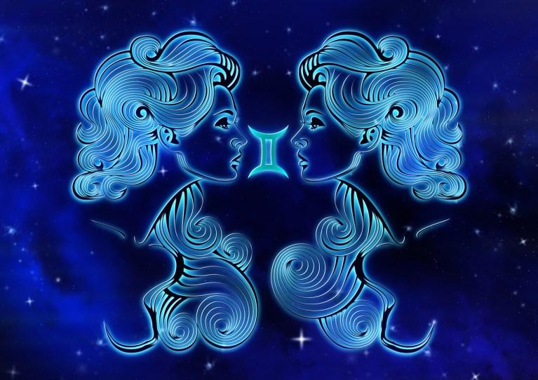 Imagem do signo predominante do mês de junho gêmeos