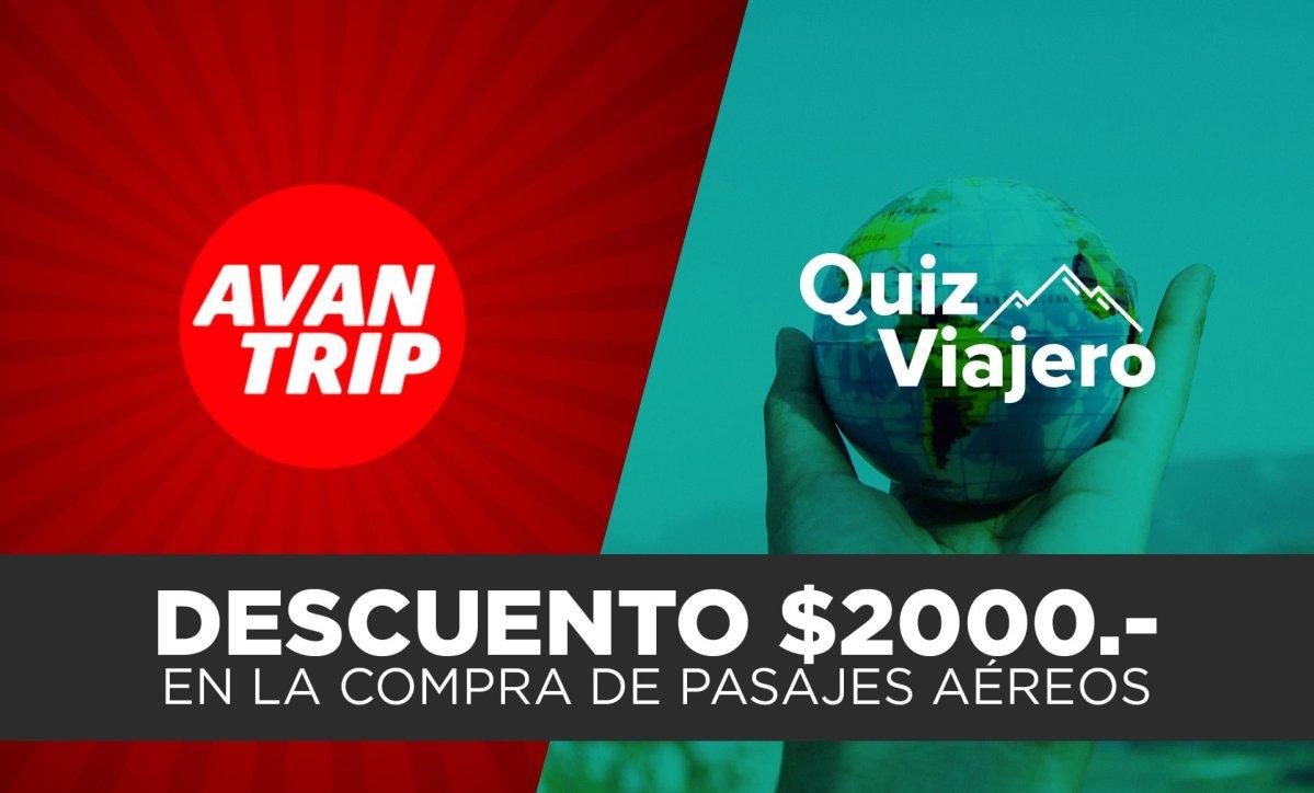 DESCUENTO DE $2000 para compras de pasajes aéreos con AVANTRIP
