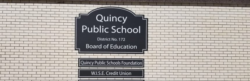 This is a picture of the sign outside the Quincy Public School Board of Education