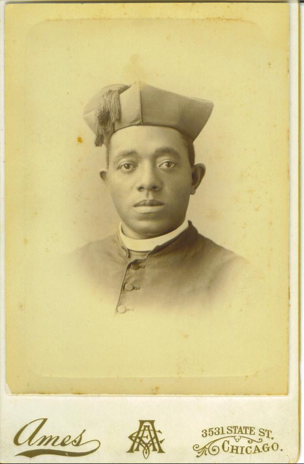 Portrait of Fr. Tolton in cassock and biretta.