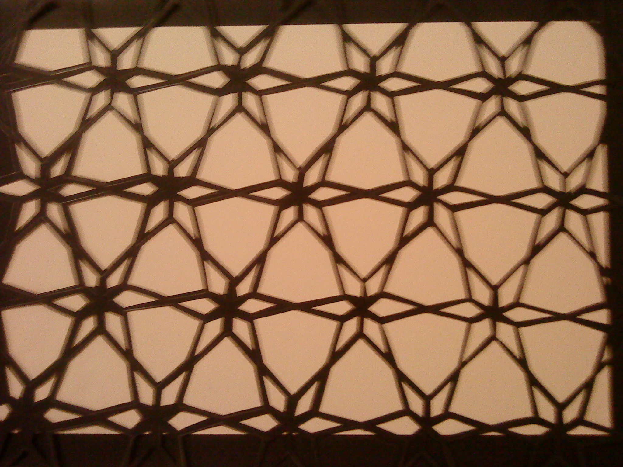 Hand cut pattern in black card