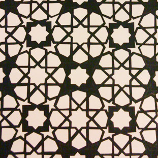 Sample of the final version - white sheet beneath the black to show the cut-out pattern