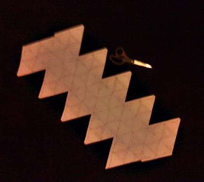 Icosahedron template