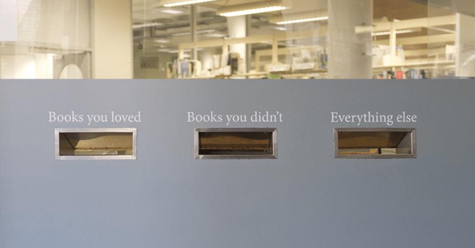 Interaktiv återlämning på UTS - borde fungera även på folkbibliotek Fota: Chris Gaul