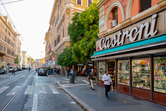 Via Ottaviano Castroni close to QuodLibet Rome