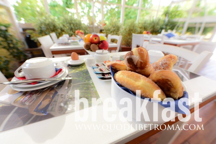 Breakfast time at QuodLibet bed and breakfast Rome