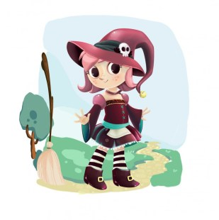 little witch character