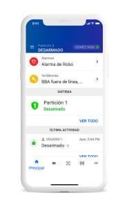 App ADT Alert. Aplicación móvil de ADT para controlar tu sistema de alarma ADT. Permite:  – Armar y desarmar tu alarma. – Vídeo on demand.