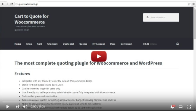 Cart to Quote for Woocommerce - 1