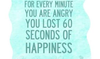 Every minute you are angry