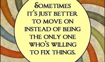Sometimes, it's just better to move on