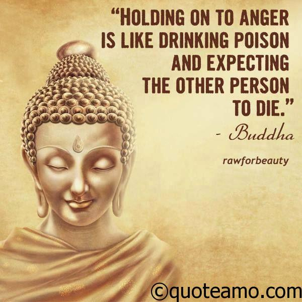 Holding on to anger - Quote Amo