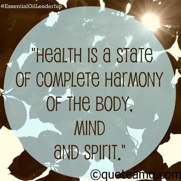 Health Is A State Of Complete Harmony Quote Amo