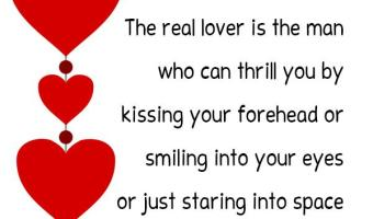 Best Quotes and Sayings about REAL LOVER for Valentine's Day