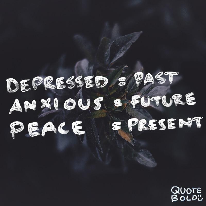 peace mind quotes depressed