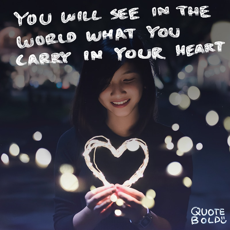"""quotes """"You will see in the world what you carry in your heart."""" - Creig Crippen"""