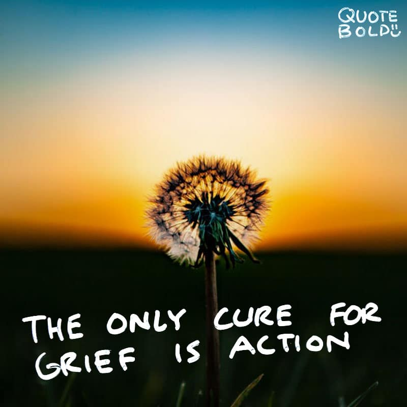 "quote ""The only cure for grief is action."" - George Henry Lewes"