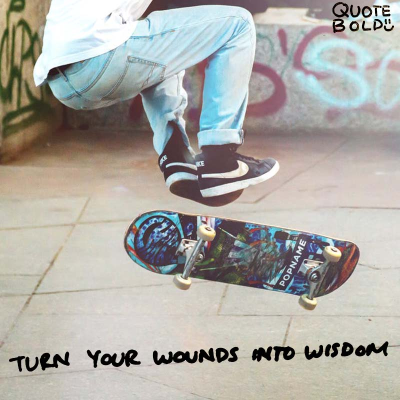 "quote ""Turn your wounds into wisdom."" - Oprah Winfrey"