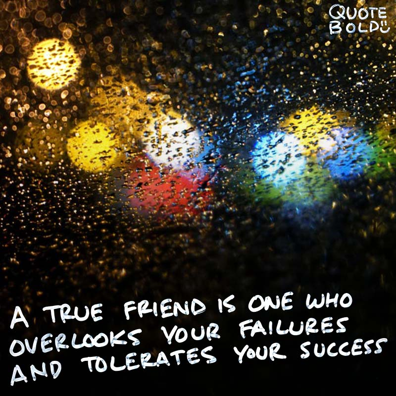 """best friend quotes image - Doug Larson """"A true friend is one who overlooks your failures and tolerates your success."""""""