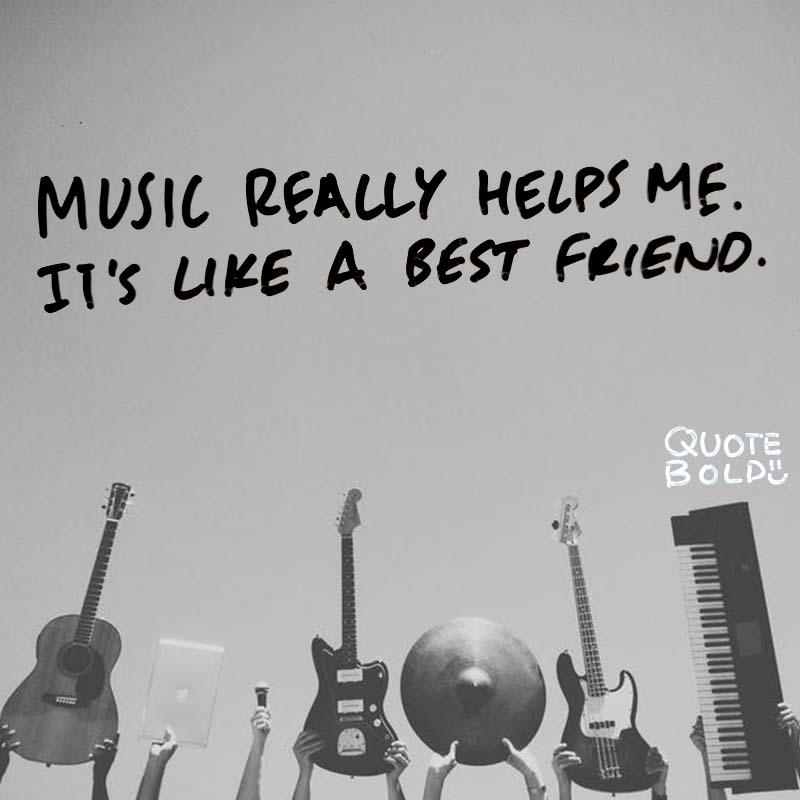 """best friend quotes image - El DeBarge """"Music really helps me. It's like a best friend."""""""