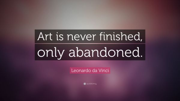 Leonardo Da Vinci Quote Art Finished