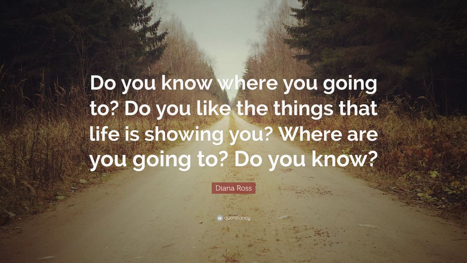 """Diana Ross Quote: """"Do you know where you going to? Do you like the things that life is showing you? Where are you going to? Do you know?"""" (7 ..."""