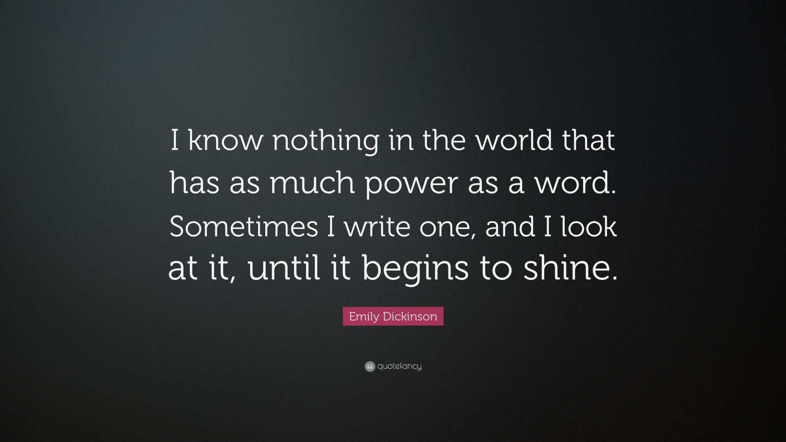 Shine Quote Wallpaper Emily Dickinson Quote I Know Nothing In The World That
