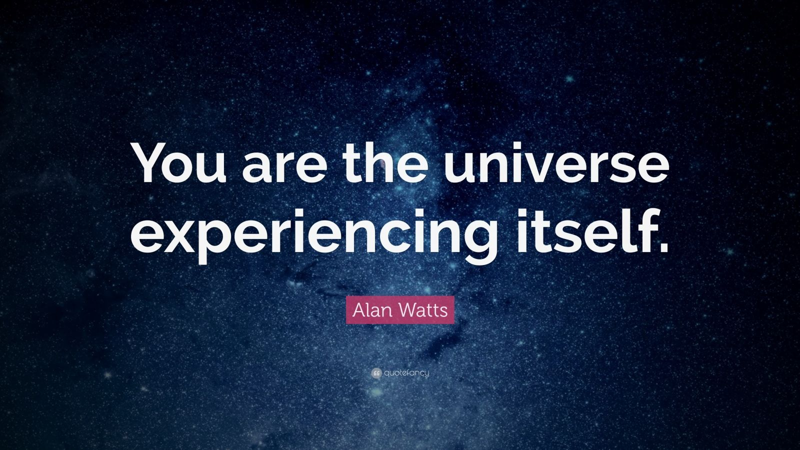 Zen Quote Wallpaper Alan Watts Quote You Are The Universe Experiencing