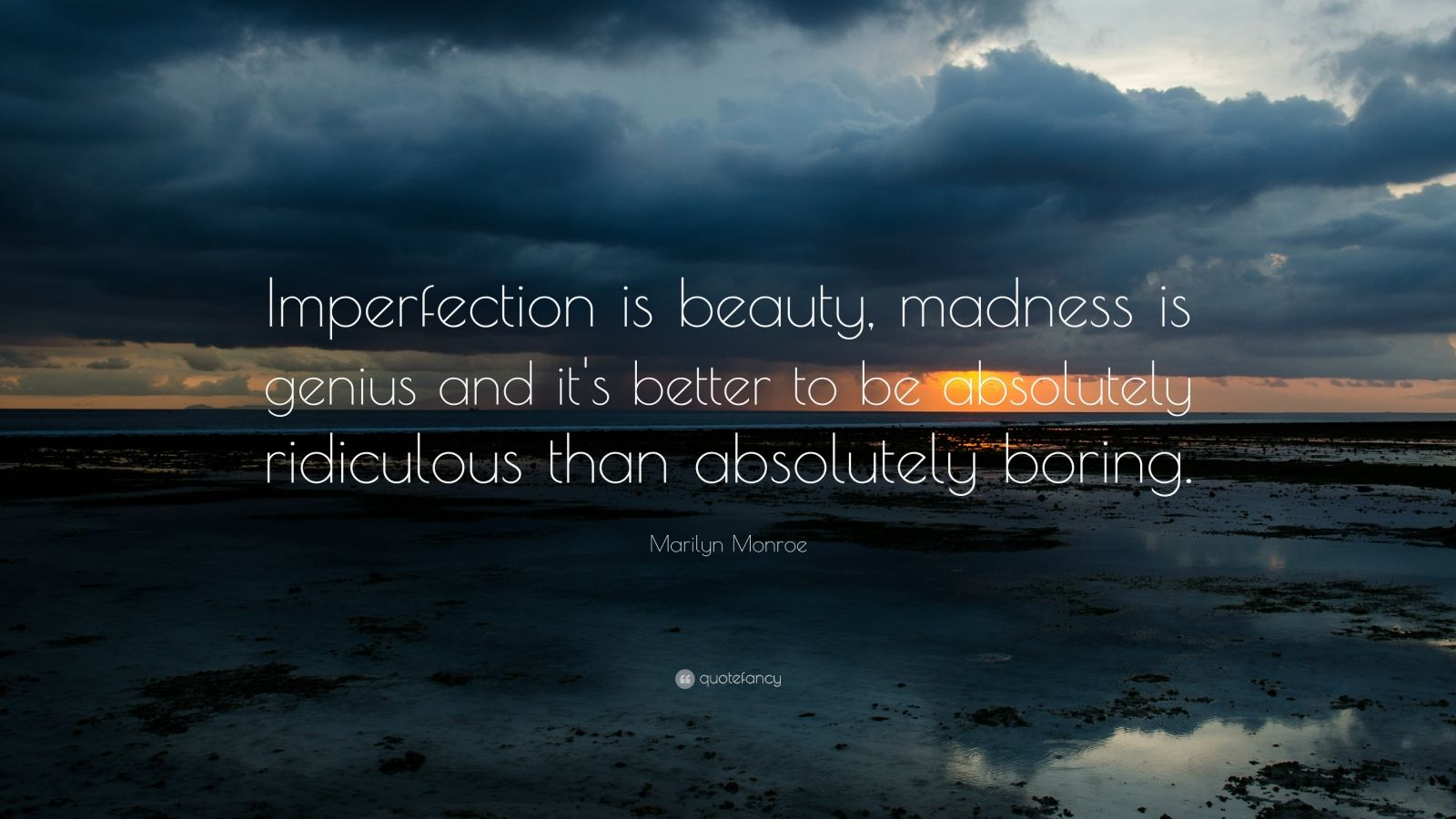Osho Hd Wallpaper Marilyn Monroe Quote Imperfection Is Beauty Madness Is