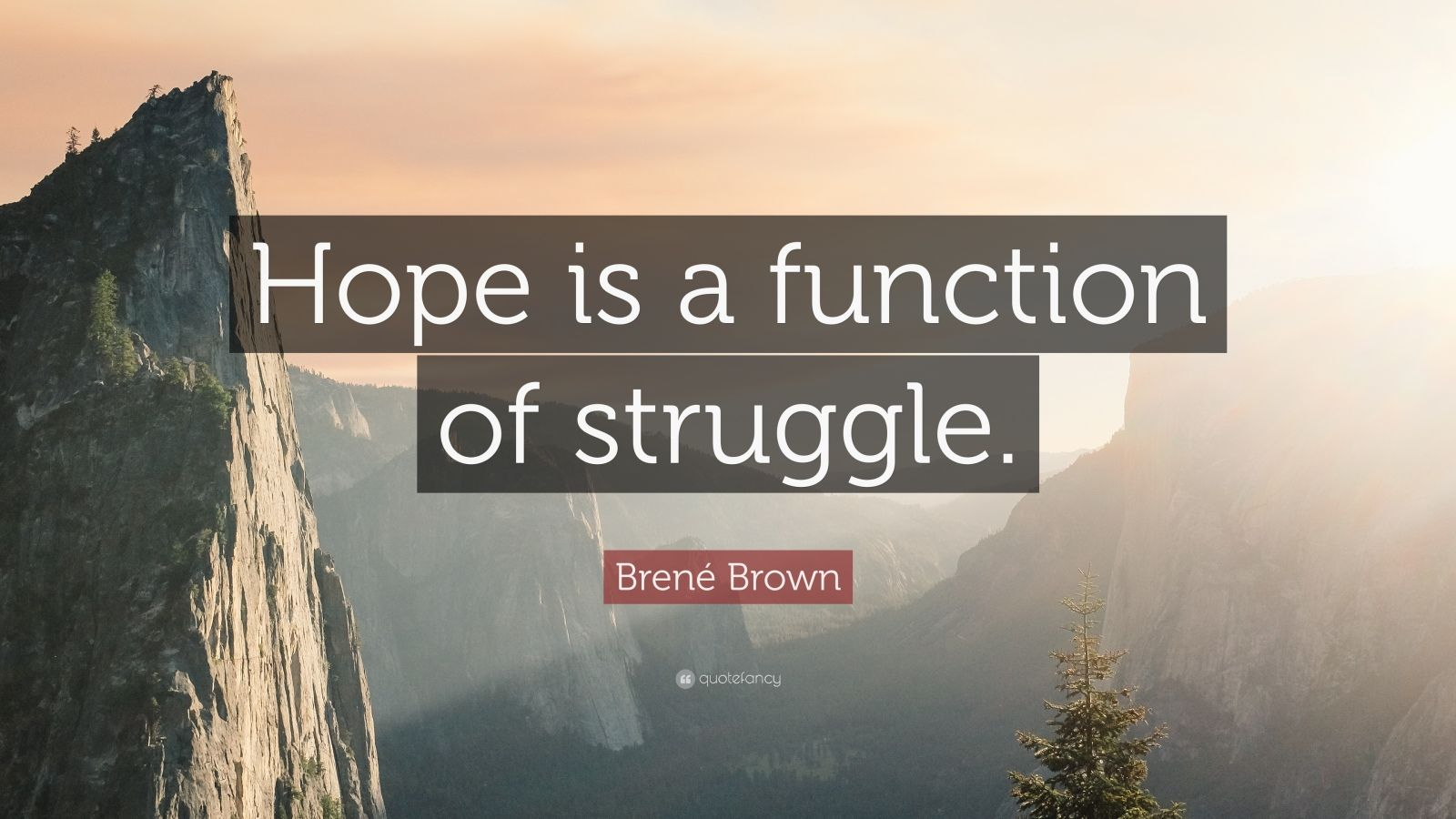 Motivational Quotes To Study Wallpaper Bren 233 Brown Quote Hope Is A Function Of Struggle 12